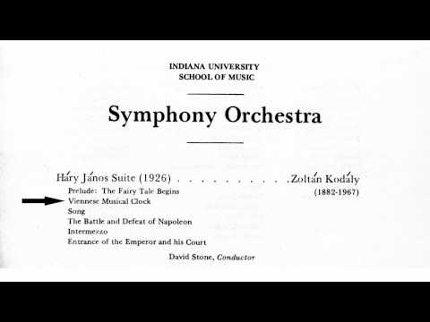 Kodaly: Hary Janos Suite part 2/6: Viennese Musical Clock