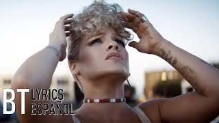 P!nk - What About Us (Lyrics + Español) Video Official