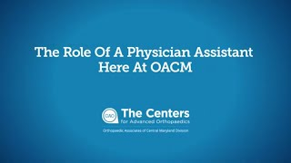What is a Physician Assistant (PA) (Orthopedics)