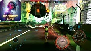 Cyber Strike - Infinite Runner - Gameplay Walkthrough Android
