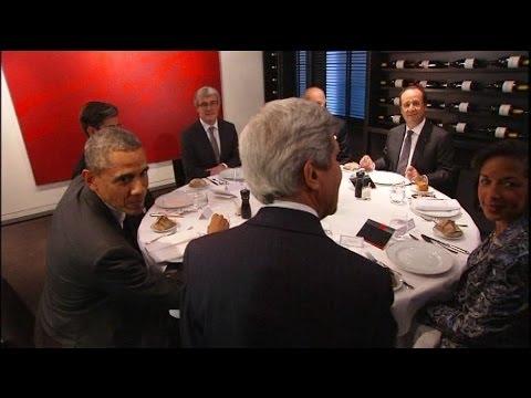 "Obama dîne avec Hollande au restaurant parisien ""Le Chiberta""  - 05/06"