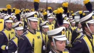 Michigan Marching Band Marches into Stadium on Michigan State Game