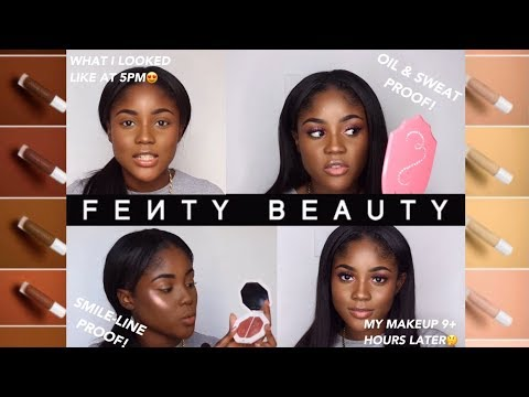 FENTY BEAUTY REVIEW: FOUNDATION KEPT ME OIL-FREE FOR 9+HRS & IS SMILE-LINE PROOF🤔😱😍| KAISERCOBY