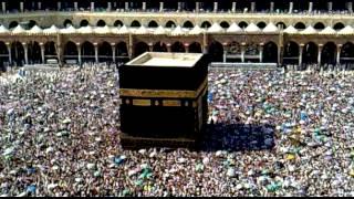 Haji M. Asim. Doran-e-Hajj al_wadaie tuwaf krty huwy Haram Pak ka aik manzar.