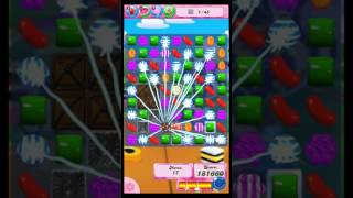Candy Crush Saga level 1367. No booster. Satisfying multiple colour bomb.