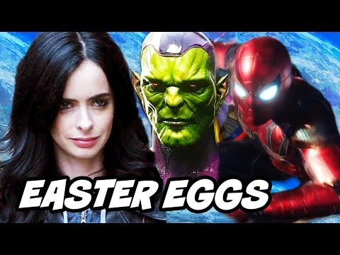 Avengers Spider-Man Jessica Jones Season 2 Easter Eggs