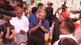 Arrival of Rao Inderjit Singh, President Paralympic Committee of India & Haryana