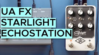 UAFX Starlight Echo Station Sound Demo (no talking) with Synthesizers