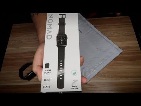 Nomad Rugged Strap Matte Black Band For Apple Watch 42mm