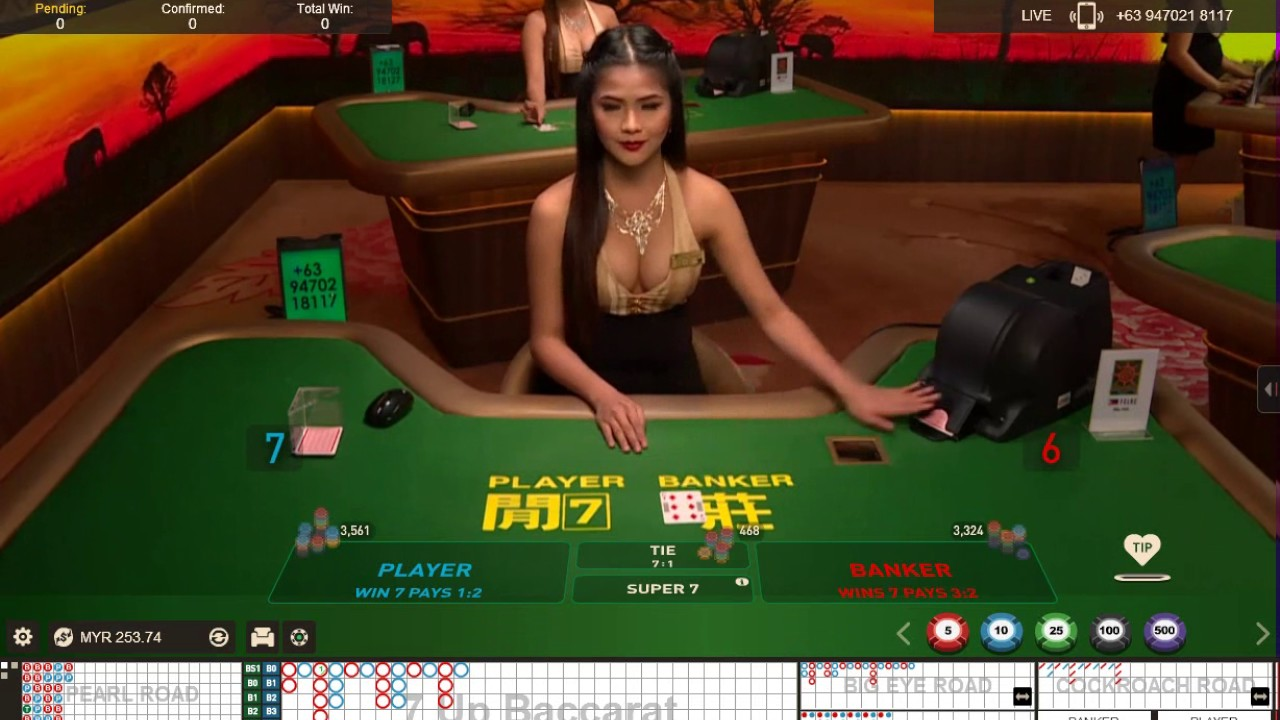 Pretty Pinoy Dealer In 7 Up Baccarat Youtube