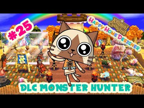animal crossing happy home designer 25 felyne dlc monster hunter youtube