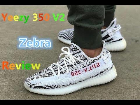 ab9174ddf1818 Adidas Yeezy Boost 350 V2 Zebra Review - YouTube