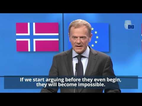 President Tusk meets Prime Minister of Norway