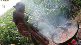 బామ్మ గారి కోడి గుడ్డు ఫ్రై  | egg bhurgi recipe | 105 eggs bhurji | Country foods