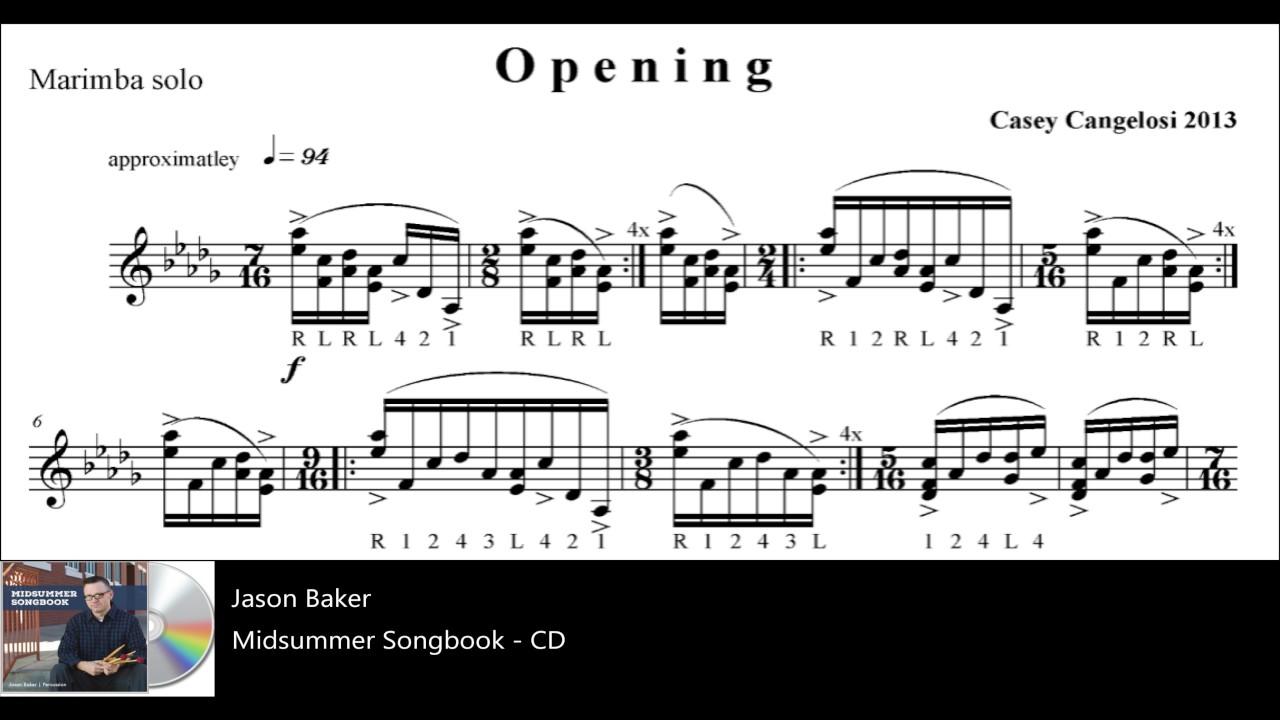 Jason Baker- Opening (exerpt), Marimba solo