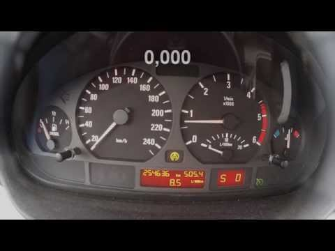 BMW e46 330d acceleration 0-100km/h and 80-120km/h