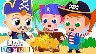 Baby John Wants To Be A Pirate | Little Angel Kids Songs & Nursery Rhymes