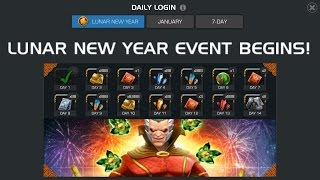 Lunar Event - Calendar alliance gifting and uest event - Marvel Cntest of champions