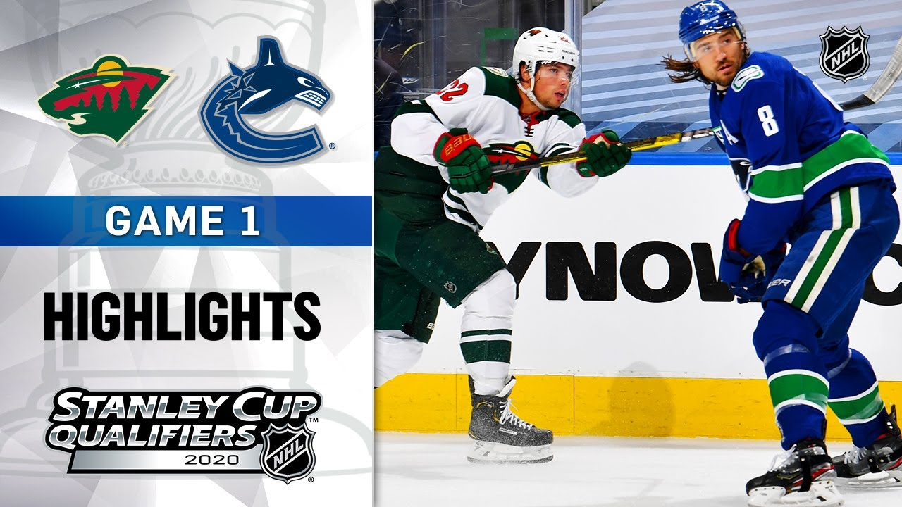 NHL Highlights   Wild @ Canucks, GM1 - Aug. 2, 2020