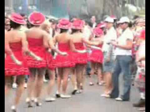 Costa Rican girls dancing on the streets of Costa Rica!