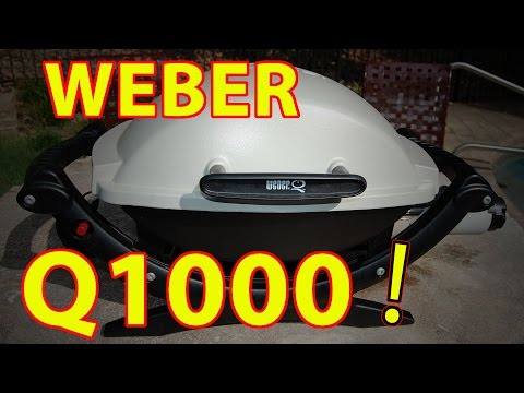 weber q1000 baby q grill review youtube. Black Bedroom Furniture Sets. Home Design Ideas