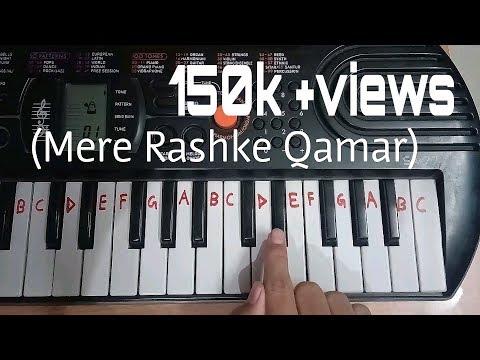 Mere Rashke Qamar Easy Piano Tutorial.