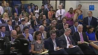 sarah sanders press conference on Trump