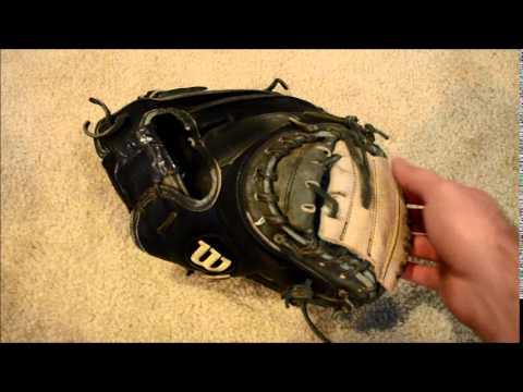 Wilson A2000 A2403 Catchers Mitt Relace Web And Spiral Baseball