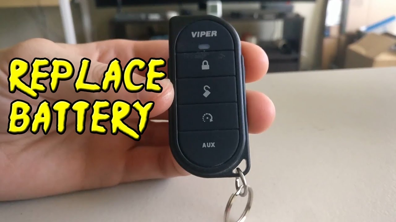 How To Replace Battery - Viper 7656V Key Fob - YouTube