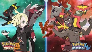 Pokemon Sun and Moon: Gladion Vs Kiawe (Ash's Rival Battle)