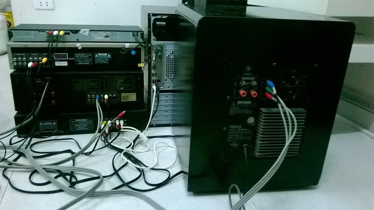 Cách đấu nối máy tính (PC) với đầu đĩa, Amply, loa,… (Hình ảnh thực tế)