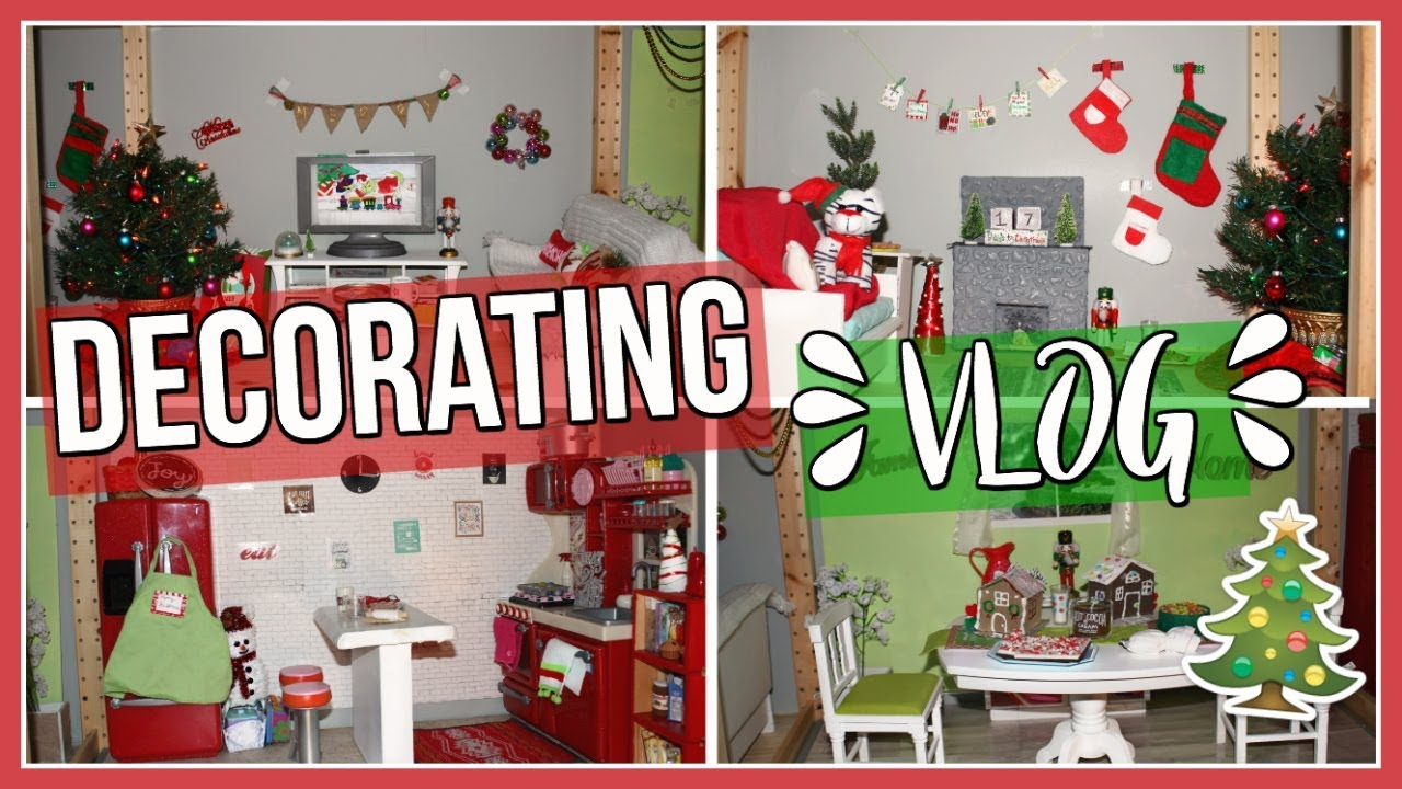 american girl dollhouse christmas decorating blog - Dollhouse Christmas Decorations