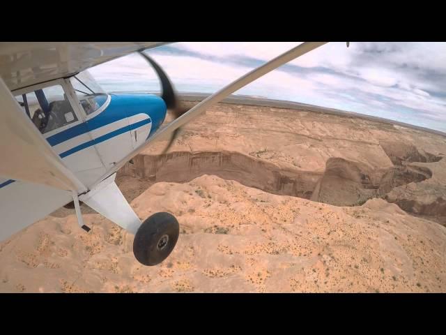 Piper Pacer PA22/20 takeoff Angel's Point airstrip Utah