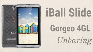 iBall Slide Gorgeo 4GL Tablet Unboxing & Features - PhoneRadar