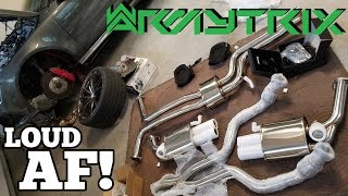 Salvage 800HP Audi RS7 Rebuild: ARMYTRIX Exhaust + Race Downpipe Install
