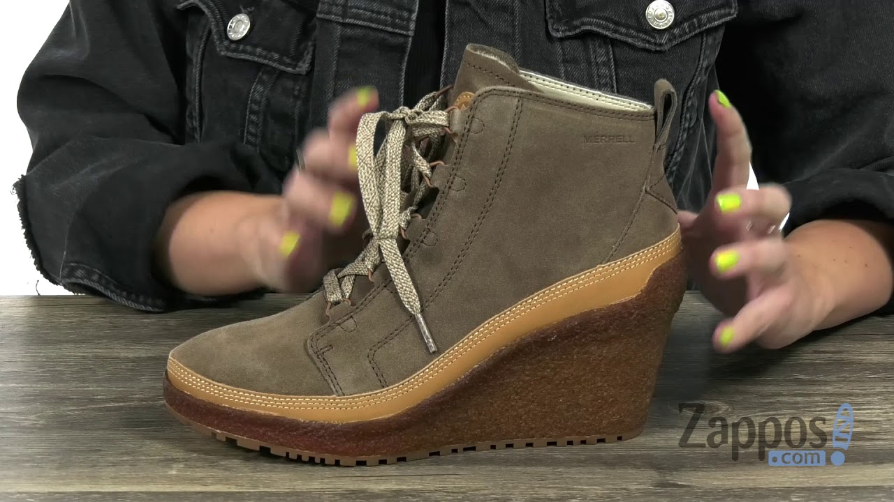 561c7a8fde7 Merrell Tremblant Wedge Lace SKU  9067442 - YouTube
