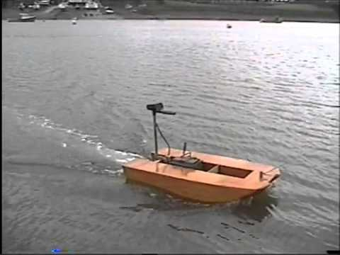 Seafax USV stitch and glue catamaran early floatation tests - YouTube