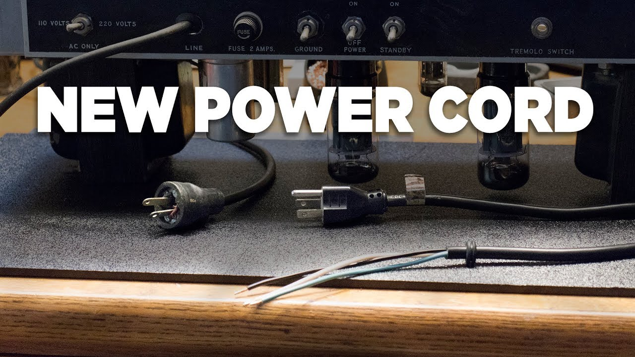 Install 3-Prong Power Cord In Old Tube Amplifier