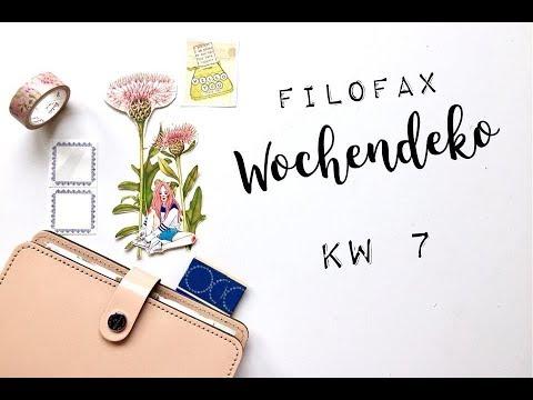 Filofax Wochendeko KW 7   filofaxing   deutsch   planenaufpapier