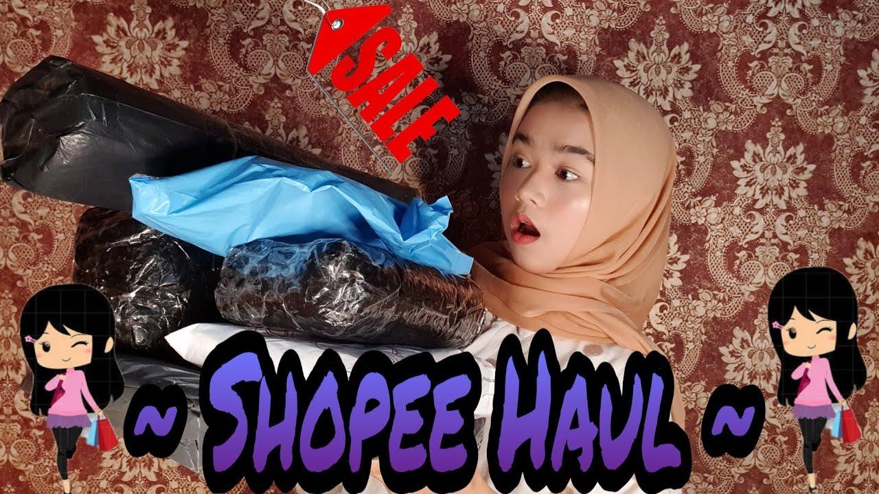 Shopee Haul    Gara gara belom mau ke mall jadi belanjanya online mulu 😂