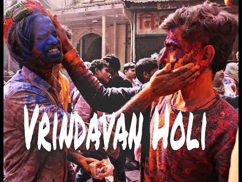 Vrindavan holi - world's largest festival of color   Mathura 2018