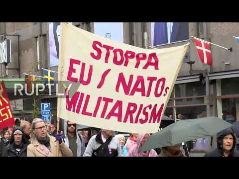 Sweden: Thousands protest NATO and Aurora 17 military drills in Gothenburg