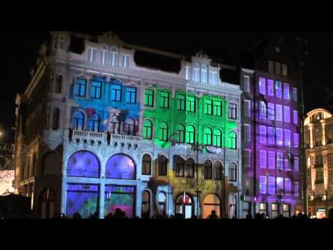 H&M-Flag Store Open at Amsterdam-3D Projection
