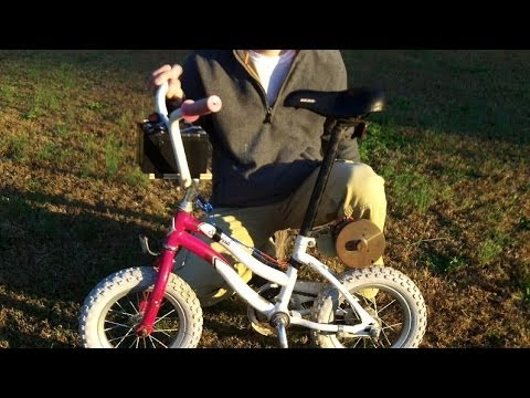 DIY motorized bicycle with a treadmill motor