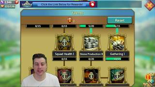 Lords Mobile F2P Series 21: Gathering Materials 1