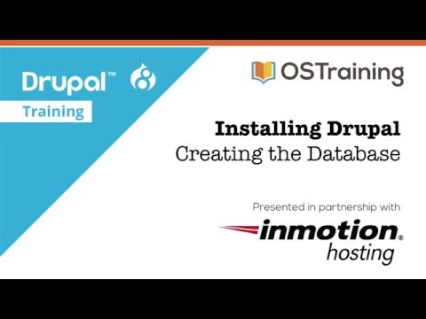 Tutorial Installing Drupal 8, Lesson 3: Creating a Database
