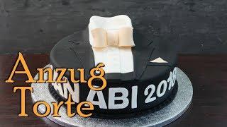 ANZUG TORTE mit FONDANT | Motivtorte für Männer [Geburtstagstorte selber machen]