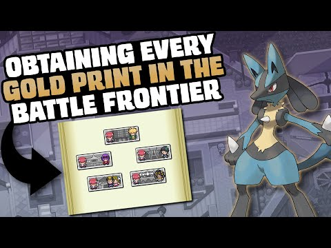 HOW EASILY CAN YOU GET EVERY GOLD PRINT IN POKEMON PLATINUM'S BATTLE FRONTIER?