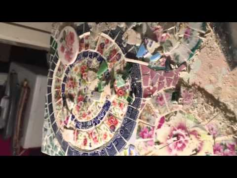How to re-make a broken china mosaic vanity - Part 2