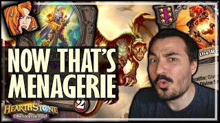 NOW THAT'S MENAGERIE! - Hearthstone Battlegrounds